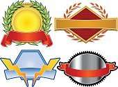 Insignia,Lightning,Label,Sign,Coat Of Arms,Shield,Medallion,Award,Banner,Deflated,Thunderstorm,Certificate,Sun,Laurel Wreath,Symbol,Medal,Exploding,template,Scroll,Scroll,Illustrations And Vector Art,Decoration