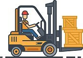 Equipment,Working,Single Line,Container,Characters,Cargo Container,Isolated,Illustration,Industry,Warehouse,Cardboard,Crate,Men,handling,Box - Container,Unloading,Mode of Transport,Delivering,Loading,Driving,Manual Worker,Flat,Business,Vector,Heavy,Picking,Transportation,Shipping,Picking Up,Storage Compartment,stockpile,Computer Icon,Freight Transportation,Distribution Warehouse,Machinery