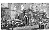 Old,Factory,History,Industry,Occupation,Manufacturing,Print,Working,Ilustration,Paper,manufactory,Image Created 18th Century,Engraved Image,Business,18th Century Style,Antique,Drawing - Art Product,Woodcut,Pencil Drawing,Black And White,Men,Paper Production,Industrial Era,Industrial Age,Paper Industry,Painted Image,Steel Engraving