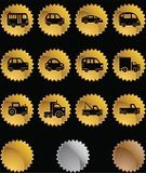 Symbol,Car,Transportation,Computer Icon,Gold,Gold Colored,Land Vehicle,Icon Set,Tractor,Truck,Van - Vehicle,Pick-up Truck,Star Shape,Bus,Interface Icons,Isolated,Set,Mini Van,Vector,Computer Graphic,Label,Vector Icons,Illustrations And Vector Art,Ilustration,Design Element