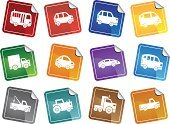 Land Vehicle,Transportation,Car,Symbol,Bus,Truck,Computer Icon,Icon Set,Van - Vehicle,Label,Pick-up Truck,Tractor,Vector,Computer Graphic,Mini Van,Interface Icons,Ilustration,Isolated,Set,Design Element,Vector Icons,Illustrations And Vector Art