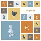 Happiness,Holiday,Easter,Cheerful,Celebration,Design,Springtime,Rabbit - Animal,Cross,Cute,Computer Graphic,Baby Chicken,Illustration,Old-fashioned,Basket,Hipster,Vector,Young Bird,Backgrounds,Flat,Sign,Season,Greeting Card,Design Element,Computer Icon,Eggs,Symbol,Religion,Decoration,Cultures,Colors,Retro Styled,Christianity,Easter Cake,Chicken - Bird