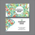 Vector,Pattern,Summer,Abstract,Boho,Business Card,template,Leaf,Ornate
