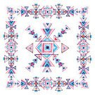 Square,Abstract,No People,Geometric Shape,Indigenous Culture,Illustration,Watercolor Painting,Triangle Shape