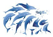 Dolphin,Art,Sea,Life,Animal,Computer Graphic,Water,Action,Illustration,Fish,Sketch,Positive Emotion,dolphinarium,Tail,Blue,Clip Art,Performance,Single Line,Tattoo,Cute,Collection,Set,Isolated,Silhouette,Mammal,Jumping,Nature,Summer,Aquatic Mammal,Aquatic,Vector,Underwater,Drawing - Art Product,Swimming Animal,Design,Doodle,Outline,Performing Arts Event,Play,Motion,White,Playful,Wildlife,Cheerful,Animal Head