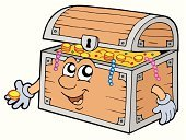 Treasure Chest,Trunk,Treasure,Coin,Cartoon,Gold,Large,Gold Colored,Savings,Furniture,Drawing - Art Product,Pearl,Vector,Currency,Gemstone,Human Face,Lock,Wealth,Art Product,Open,Old,Isolated,Keyhole,Design,Metal,Colors,Heavy,Single Object,Ilustration,Illustrations And Vector Art,Wood - Material,Color Image,Art,Safety,Human Hand,Looking,Smiling,Multi Colored,Isolated Objects,Objects with Clipping Paths