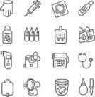 Diabetes,Single Line,Symbol,Asthma Inhaler,Tea - Hot Drink,Blood Pressure Gauge,Infrared Lamp,Pipette,Rubber,Stethoscope,Pregnant,Condom,Glove,Protective Glove,Injecting,Syringe,Blood Sugar Test,Medical Test,Shampoo,Work Tool,Personal Accessory,Electric Heater,Drinking Glass,Black Color,Dissolving,Set,Cuff,Nebulizer,Pharmacy,Healthcare And Medicine,Vector,Alternative Therapy,Thermometer,Blood,Medicine