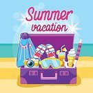 Flat,Summer,Vector,Design,Ideas,Multi Colored,Concepts,Backgrounds