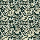 No People,Flower,Old-fashioned,Illustration,Seamless Pattern,Decoration,Backgrounds,Vector,Pattern,Floral Pattern