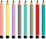 Writing,Handwriting,Charcoal Pencil,Collection,Set,Colors,Multi Colored,Pencil