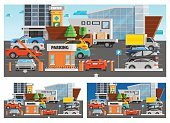 Store,Car,Van - Vehicle,Supermarket,Shopping Mall,Shopping,Concepts,Set,Composition,Retail,Building Exterior,Window,Urban Scene,Placard,Flat,Vector,Tree,Family,Merchandise,Market,Parking Lot,Arranging,Design,Illustration,Collection,Truck,Street,Equipment,Computer Icon,Icon Set,Insignia,Design Element,Symbol,Single Object,Weekend Activities,Ornate,Currency,City,orthogonal,Isolated,Choice,Visit,Business,Modern,Parking,Clothing