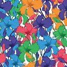 Backgrounds,Hibiscus,Decor,Flower Head,Branch,Drawing - Activity,Computer Graphic,Ink,Blue,Seamless,Season,Ornate,Decoration,Botany,Orchid,Pink Color,Illustration,Doodle,Pattern,Nature,Summer,Leaf,Vector,Petal
