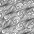 Backgrounds,Pattern,Abstract,Doodle,Black And White,Seamless,Ornate,Wallpaper Pattern,Relaxation,Black Color,Textile,Swirl,Coloring Book,Vector,Computer Graphic,Decoration,Outline,Arabic Style,Wrapping Paper,Art,Curve,Wave Pattern,Ink,Design,Coloring,Eternity