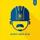 Occupation,Industry,Symbol,Holiday,May,Work Helmet,Vector,Long Shadow Design,Yellow,Flat Design,1 May,Human Hand,Backgrounds,Sign,Manual Worker,Simplicity,Celebration,Polka Dot,Equipment,Labor Day,Computer Graphic,Construction Worker,Construction Industry,Fist,Beard,Illustration,Employment Issues,Freedom