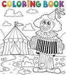 Cheerful,Stage Make-up,Joy,Characters,Fun,Event,Stage Costume,Accordion,Drawing - Art Product,Eps10,Illustration,Happiness,Musical Instrument,Footpath,Enjoyment,Performer,Smiling,Playing,Outline,Drawing - Activity,Vector,Art,Music,Clown,Performance,Entertainment,Entertainment Tent,Circus,One Person,Coloring