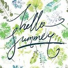 No People,Summer,Hello,Illustration,Leaf,Welcome,Watercolor Painting,Backgrounds,Vector,Design,Pattern