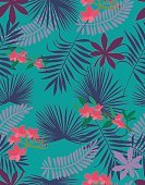 Abstract,Pacific Islands,Big Island - Hawaii Islands,Hawaii Islands,No People,Flower,Computer Graphics,Hibiscus,Wallpaper,Tropical Rainforest,Aloha - Single Word,Summer,Illustration,Pineapple,Nature,Leaf,Fashion,Bright,Single Flower,Computer Graphic,Seamless Pattern,Brightly Lit,Botany,Hawaiian Culture,Backgrounds,Beach,Arts Culture and Entertainment,Vector,Bright,Blue,Multi Colored,Pattern,Floral Pattern