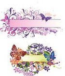 Butterfly - Insect,Frame,Grunge,Banner,Floral Pattern,Vector,Backgrounds,Watercolor Painting,Label,Pattern,Abstract,Design,Ornate,Image,Computer Graphic,Placard,Colors,Spray,Color Image,Advertisement,Decoration,Shape,Nature,Branch,Curled Up,Blob,Ilustration,Design Element,Vector Ornaments,Vector Florals,Illustrations And Vector Art,Leaf