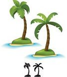 Palm Tree,Island,Tree,Cartoon,Symbol,Beach,Tropical Climate,Religious Icon,Computer Icon,Sea,Vector,Silhouette,Sand,Summer,Vacations,Water,Leaf,Ilustration,Nature,Summer,Vector Cartoons,Nature,Illustrations And Vector Art,Landscapes