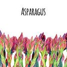 Asparagus,Floral Pattern,Painted Image,Colors,Healthy Eating,Bunch,Leaf,Watercolor Painting,Plant,Vegetable,Raw Food,Organic,Multi Colored,Gourmet,Freshness,Food,Illustration,Dieting,Green Color,Groceries,Vitamin,Vegan Food,Nature,Hand Colored,Crop