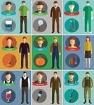 Women,Suit,Firefighter,Doctor,Job - Religious Figure,Farmer,Computer Icon,Human Face,Men,Illustration,Isolated,Connection,Chef,Detective,Computer Programmer,Surgeon,Design,Service,Avatar,uniformed,Army Soldier,Boat Captain,Air Stewardess,Vector,Characters,Males,Design Professional,Occupation,Flat,Sign,Business,Set,Symbol,People,Social Issues,Musician,Using Computer,Adult,Professional Occupation,Police Force,Teacher,Author,Manager,Pilot,Human Head