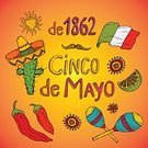 May,Carnival,Flag,Holiday,Jalapeno Pepper,Mexico,Cultures,Cinco De Mayo,Decoration,Scrapbook,Pattern,Backgrounds,Celebration,Party - Social Event,Maraca,Label,Collection,Symbol,Citrus Fruit,Vector,Illustration,Hat,Spice,Typescript,National Landmark,template,Computer Graphic,Chili
