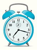 Alarm Clock,Clock,Morning,Vector,Retro Revival,Blue,Old-fashioned,Timer,Clock Hand,Ilustration,Number,Clock Face,Bell,Classic,Instrument of Time,Reminder,Time,Shadow,Household Objects/Equipment,Gray,Clock-hands,Black Color,Metal,Time,Objects/Equipment,Concepts And Ideas,Illustrations And Vector Art,Minute Hand