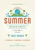 Typescript,Summer,Event,Illustration,Invitation,Sign,Beach,Ornate,Summer Party,Exploration,Vacations,template,Fun,Flyer,Backgrounds,Sea,Vector,typographic,Cocktail,Label,Night,Greeting,Decoration