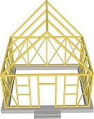 Roof Truss,Building House,building under construction,purlin,Construction Industry,Facade,Illustration,Symbol,Brick,Below,Business Finance and Industry,Roof Beam,Outline,Construction Site,Roof,Below,Window,Business,Diagram,Repairing,Vector,Architecture,Red