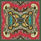 Illustration,Beige,Square,Style,Elegance,Red,Turquoise Colored,Ornate,Pattern,Floral Pattern,Swirl,Browne Brothers,Vector