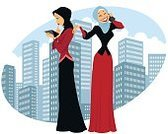 Cartoon,Girls,Women,Vector,Illustration,Cultures,Middle Eastern Ethnicity,Arabia,Females,Urban Scene,Mobile Phone,Businesswoman,Briefcase,Veil,Standing,Islam,Digital Tablet,Cheerful,Characters,Khaliji,Beauty,People,Saudi Arabia,Abaya,Hijab,Arabic Style,business lady,Telephone,Business,Fashion,Beautiful,Spirituality,White