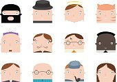 Cheerful,Student,Multi-Ethnic Group,Education,Men,Cute,Collection,Teacher,Smiling,Caucasian Ethnicity,Vector,University,Illustration,Thief,Women,Campus,Harry,Sherlock Holmes,Priest,Ethnicity,Positive Emotion,Potter,People