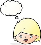 Cheerful,Drawing - Activity,Doodle,Bizarre,Clip Art,Illustration,Cute,Facial Expression,Vector,freehand,Thought Bubble,Human Face