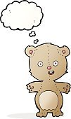 Cheerful,Drawing - Activity,Doodle,Bizarre,Clip Art,Illustration,Cute,Bear,Vector,freehand,Thought Bubble,Teddy Bear