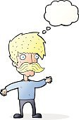 Cheerful,Drawing - Activity,Doodle,Bizarre,Clip Art,Illustration,Cute,Mustache,Vector,freehand,Thought Bubble,Men