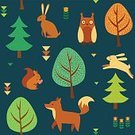 Autumn,Child,Filling,Animal,Forest,Decoration,Day,Squirrel,Backgrounds,Bird,Vector,Owl,Yellow,Gratitude,Hare,Thanksgiving,September,Pattern,Seamless,Season,Leaf