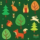 Forest,Pattern,Vector,Squirrel,Season,Yellow,Day,Bird,Autumn,Hare,Backgrounds,Seamless,Animal,Decoration,September,Filling,Gratitude,Thanksgiving,Leaf,Owl,Child