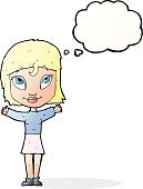 Cheerful,Drawing - Activity,Doodle,Bizarre,Clip Art,Illustration,Cute,Gesturing,Vector,freehand,Thought Bubble,Women
