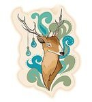 Deer,Fashion,T-Shirt,Animal,Illustration,Wildlife,Nature,Backgrounds,Creativity,Reindeer,Eyesight,Light - Natural Phenomenon,Looking Away,fallow-deer,Female Deer,Love,Blue,Fallow Deer,Vector,Aura,Looking,Shirt,Abstract,Antler,Cute,Christmas,Tattoo,Winter,Elegance,Mammal,Vitality,Electric Lamp,Lighting Equipment,Looking At Camera,Doe,Stag,Humor,White-Tailed Deer,Image