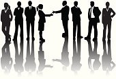 Togetherness,Teamwork,Silhouette,People,Business,Businesswoman,Business Person,Partnership,Office Worker,White Collar Worker,Women,Ilustration,Group Of People,Men,Vector,Businessman,Digitally Generated Image,Business People,People,Illustrations And Vector Art,Business,Friendship