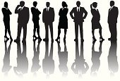 Silhouette,Business,People,White Collar Worker,Businesswoman,Back Lit,Businessman,Women,Group Of People,Business Person,Men,Office Worker,Vector,Ilustration,Digitally Generated Image,Business People,People,Illustrations And Vector Art,Business