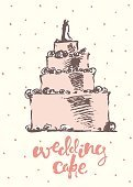 Celebration,Retro Styled,Sketch,Doodle,Cute,Painted Image,Wedding,Beauty,Old-fashioned,Beautiful People,Illustration,Ink,Greeting,Symbol,Poster,Inviting,Invitation,Billboard Posting,Bakery,Cupcake,Drawing - Activity,Dessert,Paintings,Wedding Cake,Pencil Drawing,Cake,Vector,Party - Social Event,Moisturizer