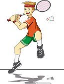 Sport,Men,Shuttlecock,Vector,Playing,Boys,Child,Fun,Shoe,Athlete,Net - Sports Equipment,Isolated,Badminton,Illustration,Sports Equipment,Remote,Competitive Sport,Healthy Lifestyle,One Person,Illustrations And Vector Art,Lifestyles,Racket,Activity,Clip Art,Cut Out,sports and fitness,Action
