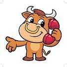 Calling,Cartoon,Bull - Animal,Supercharger,Vector,Ring,Cattle,Animal,Telephone,Taurus,Wild Cattle,Mascot,Illustration,Mammal,phone-call