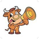 Cartoon,Cattle,Bullhorn,Bull - Animal,Vector,The Media,Animal,Illustration,Taurus,public-relations,Wild Cattle,Mascot,Megaphone,Mammal,Herbivorous