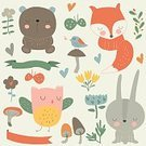 Child,Baby,backgorund,Kid Room,Humor,Retro Styled,Color Image,Flower,Banner,Fox,Plant,Bear,Animal,Cute,Painted Image,Old-fashioned,Ribbon,Teddy Bear,Collection,Animals In The Wild,Studying,Illustration,Nursery - Bedroom,Poster,Banner - Sign,Bright,Rabbit - Animal,Overweight,Mushroom,Woodland,Butterfly - Insect,Education,Bird,Heart Shape,Decoration,Art Deco,Forest,Part Of,Hare,Grass,Vector,Bright,Design,Laurel Wreath,Multi Colored,Flourish,Pattern,Textile