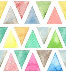 Painted Image,Watercolor Painting,Abstract,Blue,Backgrounds,Seamless,Pattern,Art,Geometric Shape,Color Image,Triangle Shape,Paint,Illustration