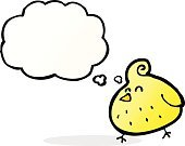 Cheerful,Drawing - Activity,Doodle,Bizarre,Clip Art,Rough,Illustration,Vector,freehand,Thought Bubble,Cute,Bird