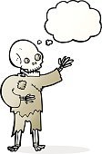 Cheerful,Drawing - Activity,Doodle,Bizarre,Clip Art,Rough,Illustration,Vector,Undead,freehand,Thought Bubble,Cute,Halloween