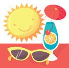 Summer,Vacations,Sunglasses,Cartoon,Fun,Sun,Cheerful,Happiness,Drink,Travel Backgrounds,Beaches,Travel Locations,Cocktail
